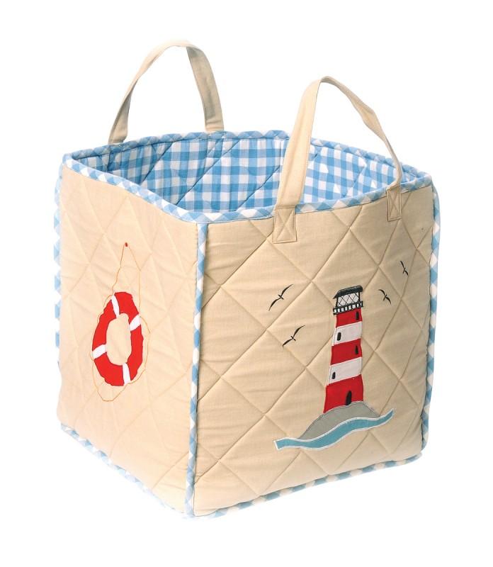 Ikea Schrank Für Dachschräge ~ Maritime Spielzeugtasche  Boat House  aus Stoff für die Aufbewahrun