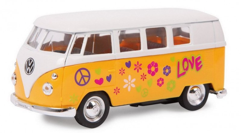 kindergeschenk mit retro charme vw modellbus hippie. Black Bedroom Furniture Sets. Home Design Ideas