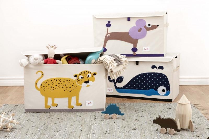 xl aufbewahrungskiste f rs kinderzimmer leopard 38 x 61x. Black Bedroom Furniture Sets. Home Design Ideas