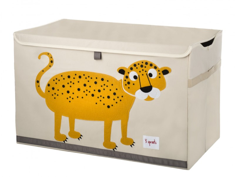 xl aufbewahrungskiste f rs kinderzimmer leopard 38 x 61x 37 cm von 3 sprouts. Black Bedroom Furniture Sets. Home Design Ideas