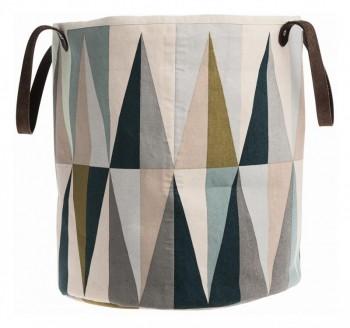 aufbewahrung im kinderzimmer stilvolle spielzeugtasche mit rauten 35 x 40 cm bio baumwolle. Black Bedroom Furniture Sets. Home Design Ideas