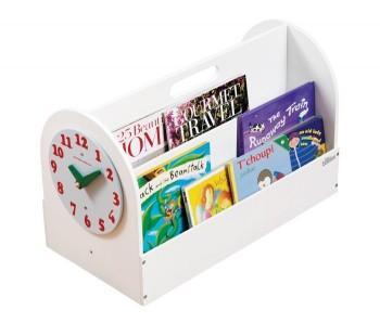aufbewahrung f r kinderb cher tragbare b cher box aus holz weiss 34 x 54 x 28 cm von tidy books. Black Bedroom Furniture Sets. Home Design Ideas