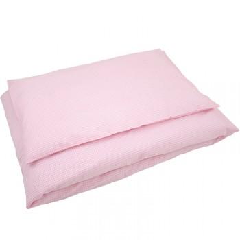 dezente kinderbettw sche vichy karo rosa 100 x 135 cm oder 135 x 200 cm von sugarapple made. Black Bedroom Furniture Sets. Home Design Ideas