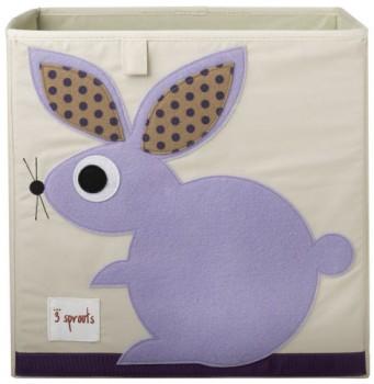 aufbewahrung im kinderzimmer mit hase spielzeugbox 33 x 33x 33 cm von 3 sprouts. Black Bedroom Furniture Sets. Home Design Ideas