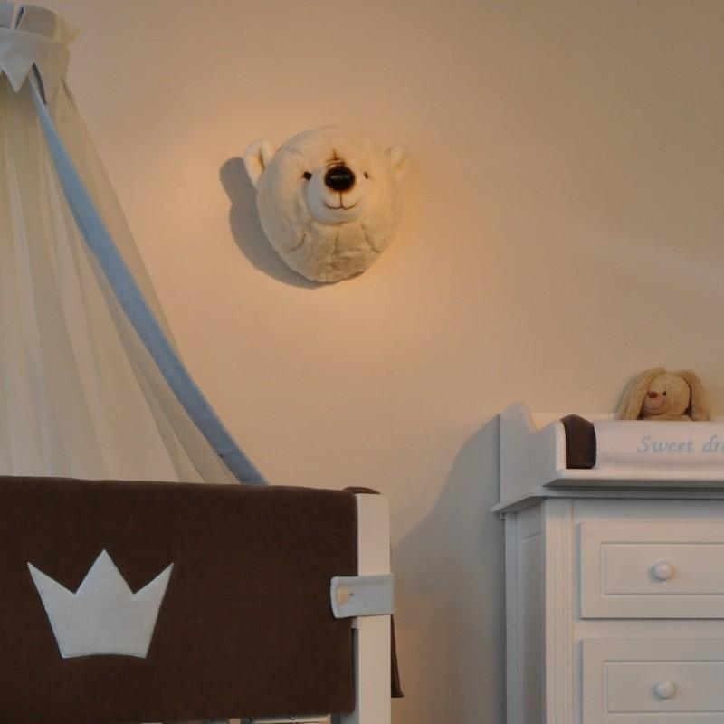 wandgestaltung im kinderzimmer mit toller tiertroph e. Black Bedroom Furniture Sets. Home Design Ideas