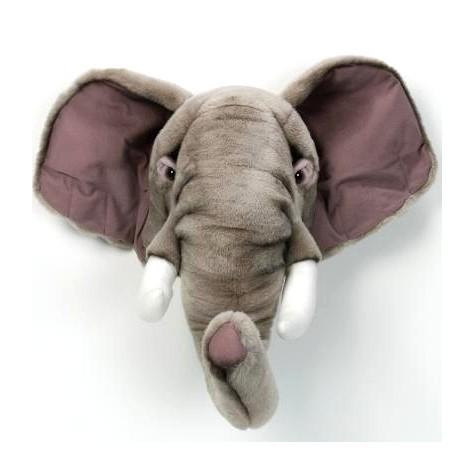Wandgestaltung im kinderzimmer mit imposanter tiertroph e - Babyzimmer elefant ...