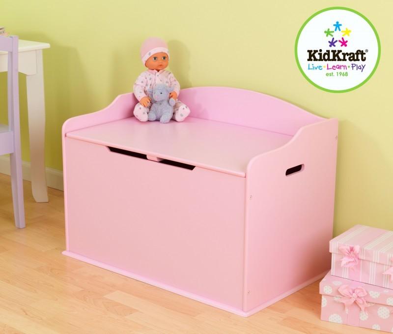 aufbewahrung im kinderzimmer mit charme und stil grosse spielzeugtruhe und sitzbank in rosa. Black Bedroom Furniture Sets. Home Design Ideas