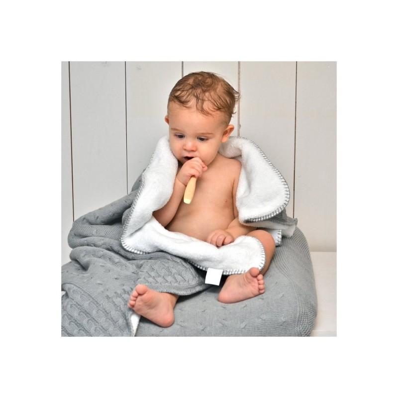 babydecke mit zopfmuster rosa gestrickte baumwolle mit teddyfutter 90 x 75 cm von baby 39 s only. Black Bedroom Furniture Sets. Home Design Ideas
