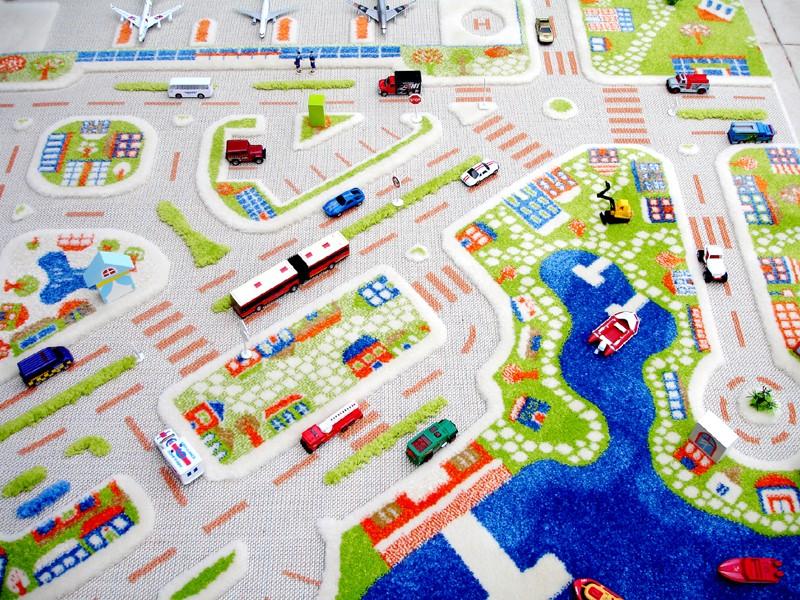3D Spielteppich und Kinderteppich Stadt u0026quot;Mini Cityu0026quot; mit ...