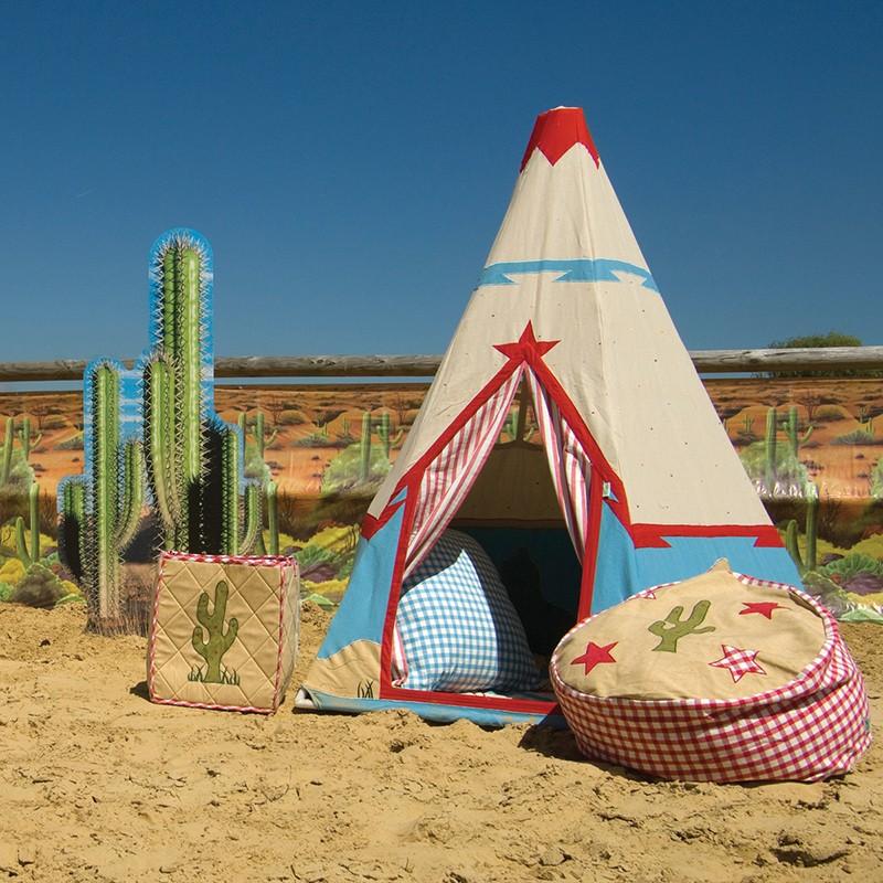 wigwam indianerzelt cowboy aus stoff mit besonderem ethno muster 170 cm hoch von win green. Black Bedroom Furniture Sets. Home Design Ideas