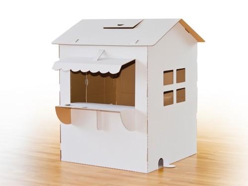 kinderspielhaus kaufladen tante emma aus wei er pappe. Black Bedroom Furniture Sets. Home Design Ideas