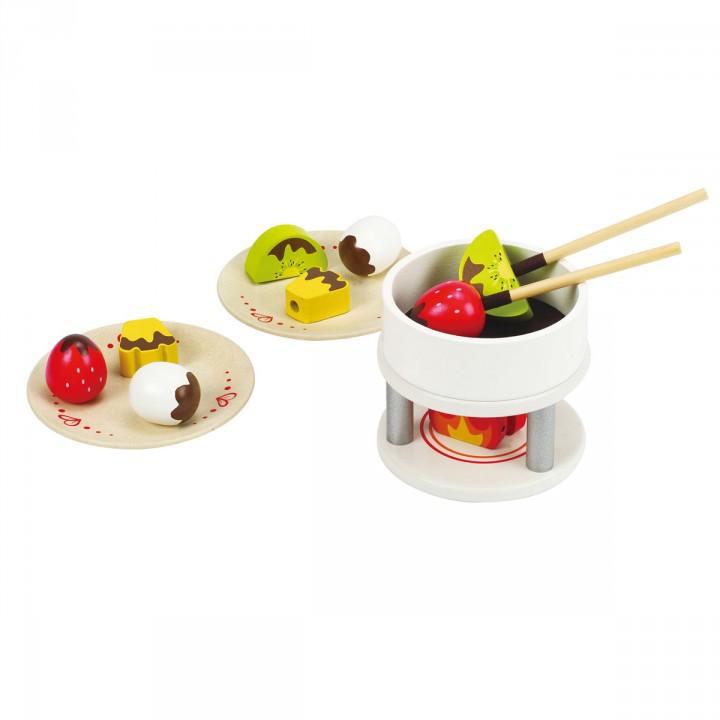 kinderk chen zubeh r schokoladen fondue aus holz 15. Black Bedroom Furniture Sets. Home Design Ideas