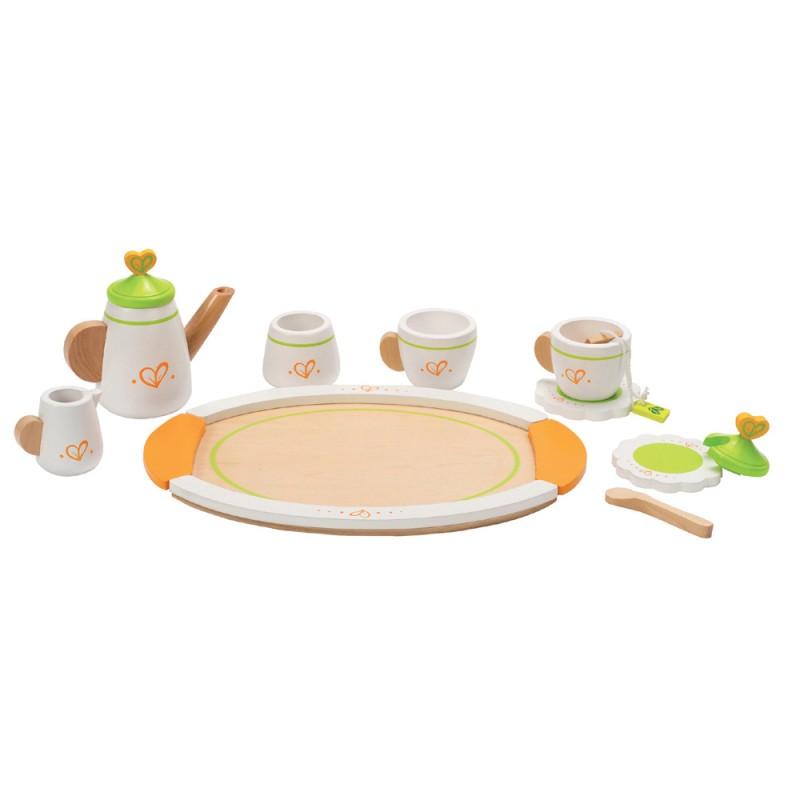 Kinderkuchen zubehor teeservice fur zwei aus holz 12 for Geschirr für kinderküche