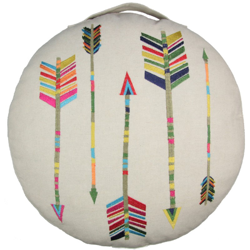 kinder bodenkissen coussin arrow baumwolle durchmesser 40 cm von nattiot. Black Bedroom Furniture Sets. Home Design Ideas