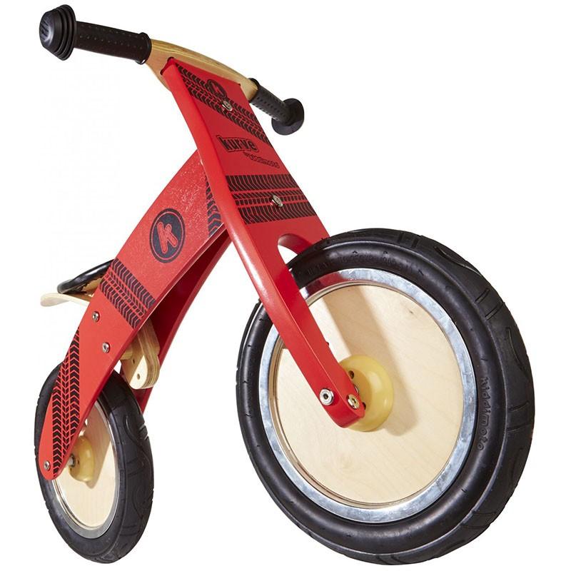 KinderkUche Holz Ab 2 Jahren ~   Holz, rot, Reifen Aufdruck, verstellbarer Sitz, verwendbar ab 2 Jahren