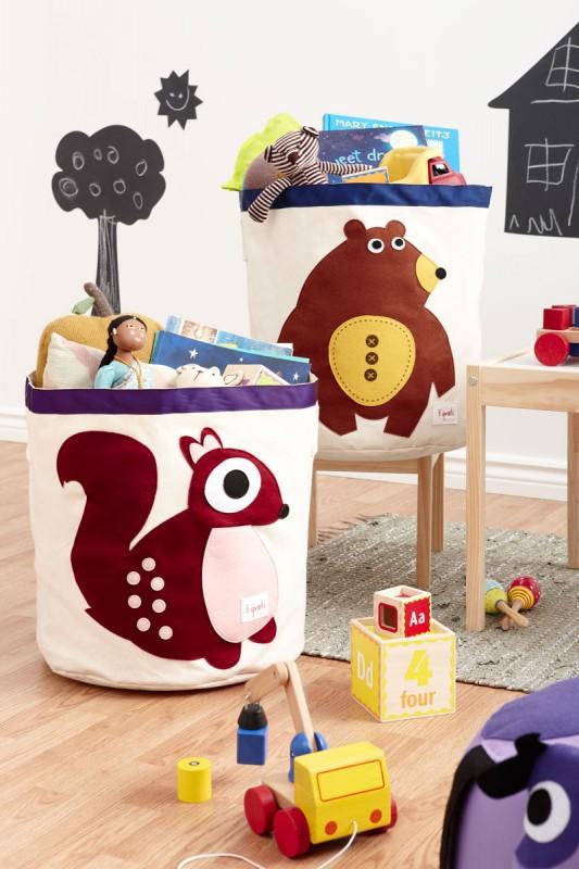 aufbewahrung im kinderzimmer grosse waschb r spielzeugtasche 43 x 43 5 cm von 3 sprouts. Black Bedroom Furniture Sets. Home Design Ideas