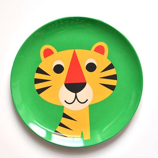 kindergeschirr teller tiger aus melamin ingela p. Black Bedroom Furniture Sets. Home Design Ideas