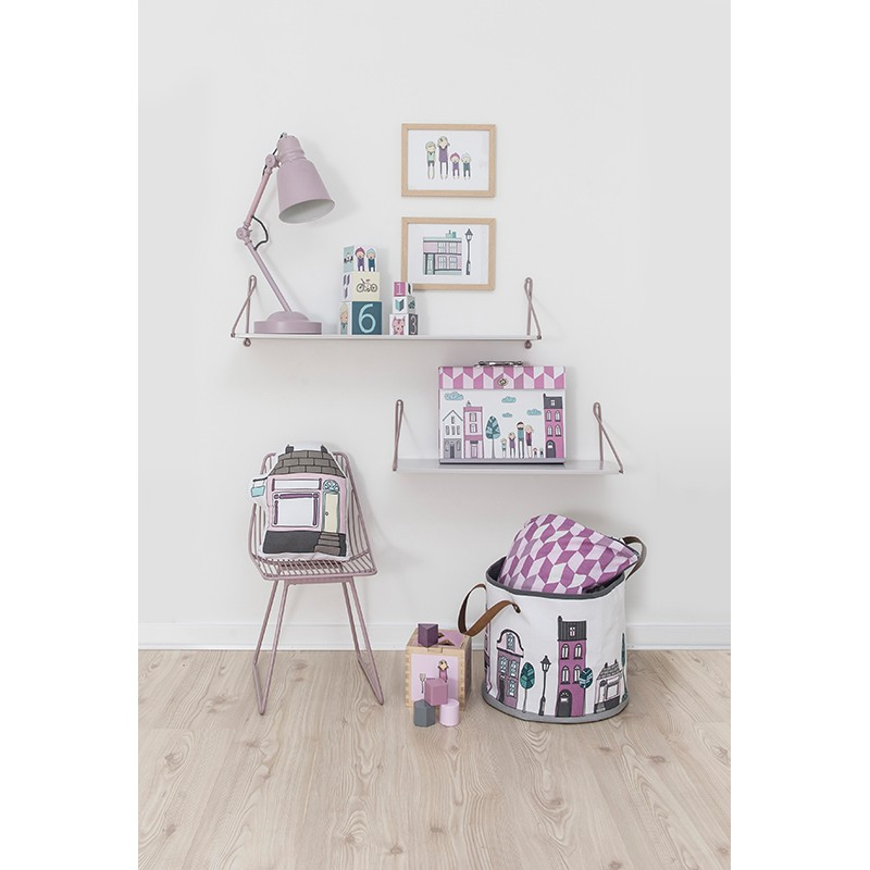 aufbewahrung im kinderzimmer spielzeugtasche village girl durchmesser 35 cm von sebra. Black Bedroom Furniture Sets. Home Design Ideas