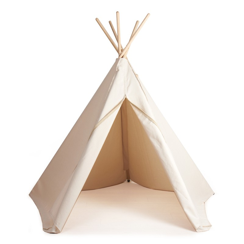 indianerzelt hippie tipi aus stoff natur weiss von roommate. Black Bedroom Furniture Sets. Home Design Ideas