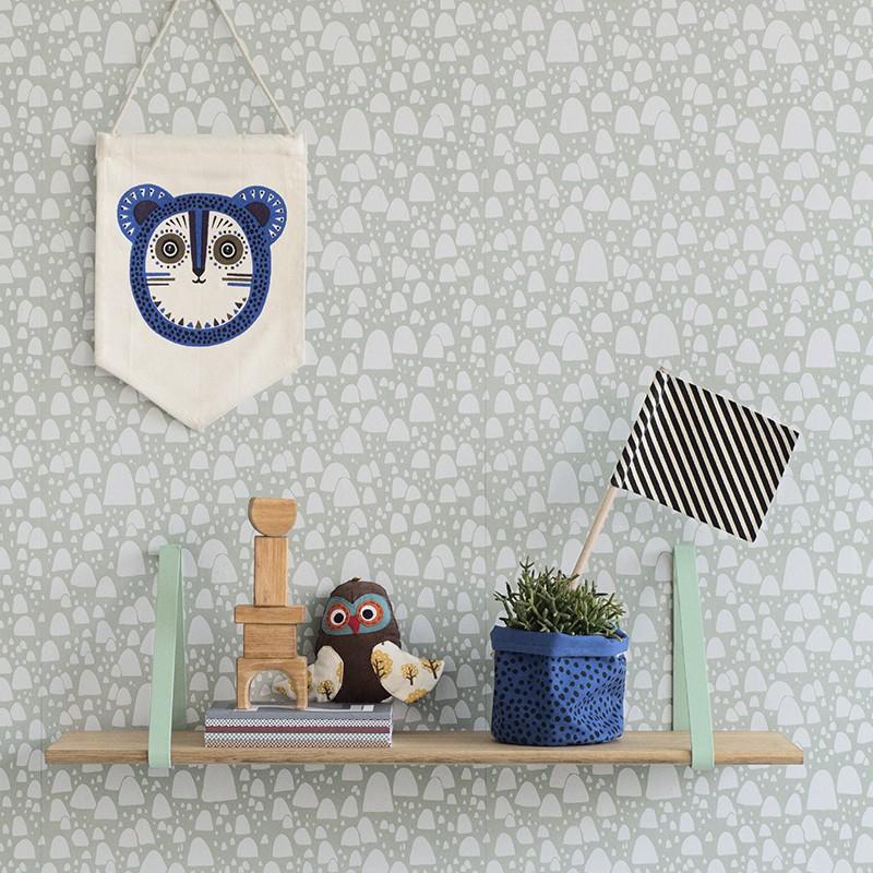 Kinderzimmer Dekoration, 4 Hurra Flaggen, Schwarz/weiß