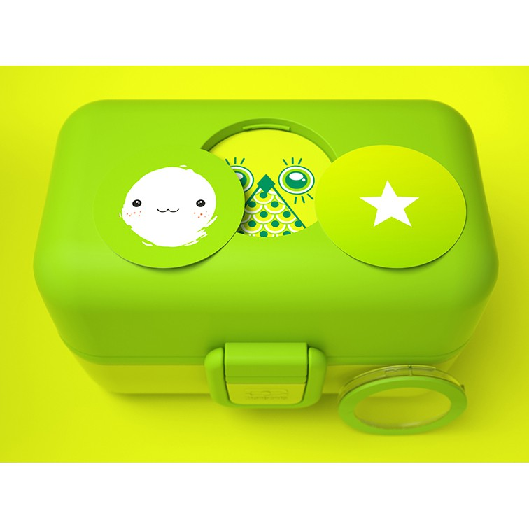 praktische kinder lunchbox bento box mb tresor gr n von monbento. Black Bedroom Furniture Sets. Home Design Ideas