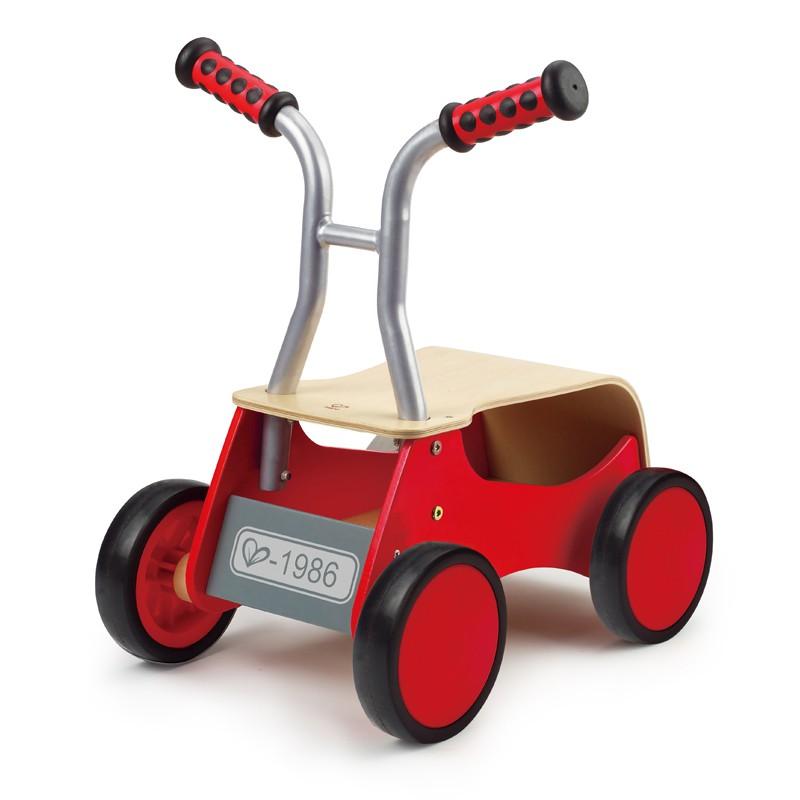 Puppenwagen Holz Ab 12 Monate ~   Lauflernwagen, Rutscher, Roter Raser, aus Holz, ab 12 Monate, von Hape