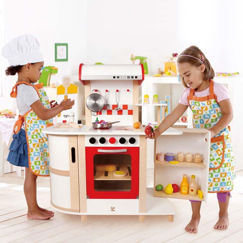 Kinderkueche Spielkueche Holz Weiss 2033 ~   , Spielküche, Küchentraum, ab 3 Jahren, weiß, aus Holz, von Hape
