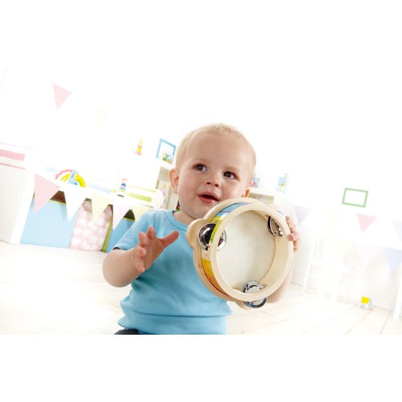 Puppenwagen Holz Ab 12 Monate ~   , kleiner Tamburinspieler, ab 12 Monate, aus Holz, von Hape