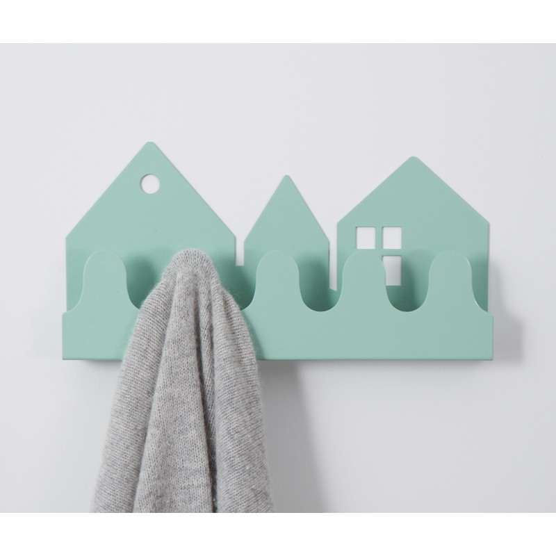 h bsche garderobe f r s kinderzimmer village pastell blau von roommate. Black Bedroom Furniture Sets. Home Design Ideas